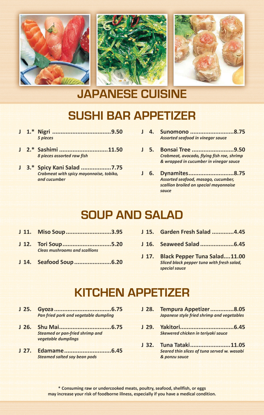 Soup Kitchen Menu Japanese And Thai Menus At East Restaurant And Lounge In Wells